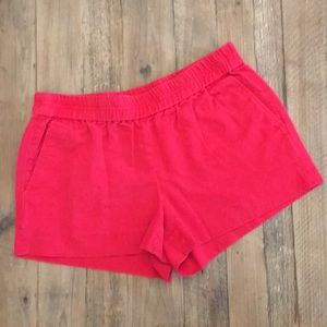 Red J.Crew Shorts
